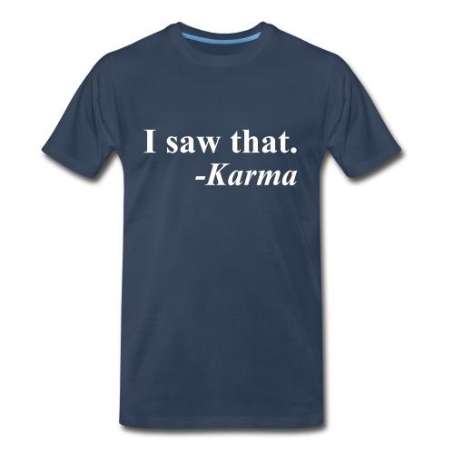 Karma Men's Tee Navy - Men's Premium T-Shirt