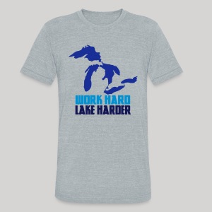 Lake Harder - Unisex Tri-Blend T-Shirt by American Apparel