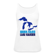 Tanks ~ Women's Premium Tank Top ~ Lake Harder