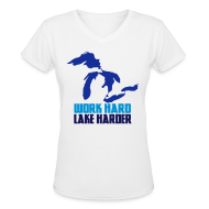 T-Shirts ~ Women's V-Neck T-Shirt ~ Lake Harder