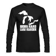 Long Sleeve Shirts ~ Men's Long Sleeve T-Shirt by Next Level ~ Lake Harder