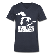 T-Shirts ~ Men's V-Neck T-Shirt by Canvas ~ Lake Harder
