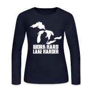 Long Sleeve Shirts ~ Women's Long Sleeve Jersey T-Shirt ~ Lake Harder