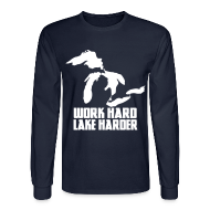 Long Sleeve Shirts ~ Men's Long Sleeve T-Shirt ~ Lake Harder