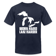 T-Shirts ~ Men's T-Shirt by American Apparel ~ Lake Harder