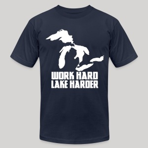 Lake Harder - Men's T-Shirt by American Apparel