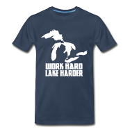 T-Shirts ~ Men's Premium T-Shirt ~ Lake Harder
