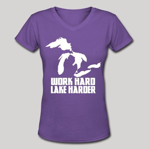 Lake Harder - Women's V-Neck T-Shirt