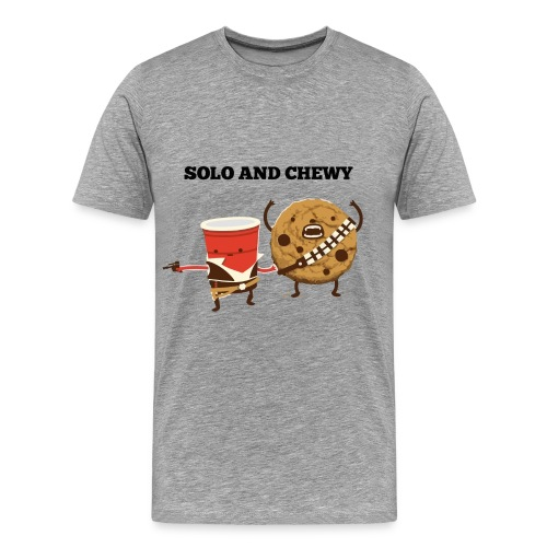 Funny star wars han solo and chewbacca - Men's Premium T-Shirt