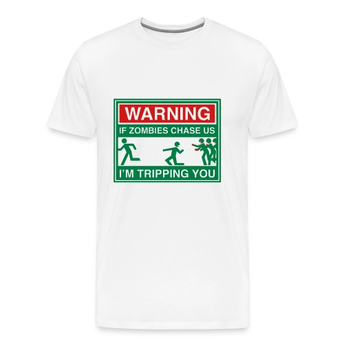 Warning Zombies - Men's Premium T-Shirt