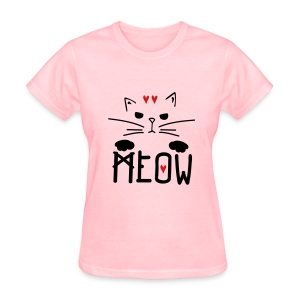 MEOW kitty cat Women's T-Shirt - Women's T-Shirt