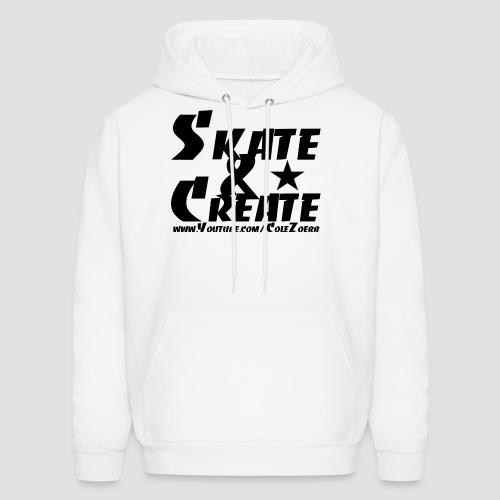 Skate & Create Hoodie (Black Print) - Men's Hoodie