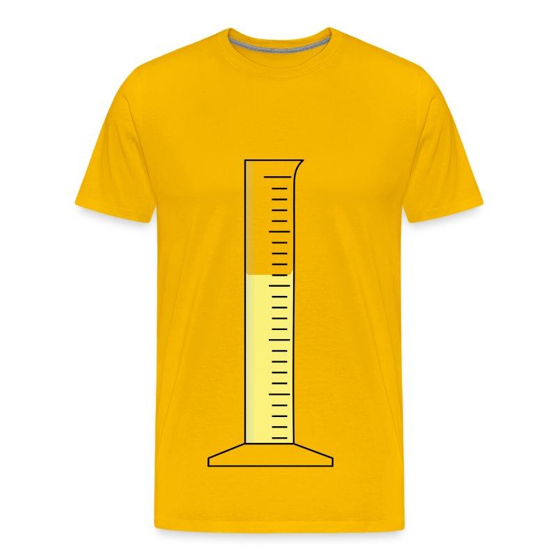 kleiner messzylinder mit gelber fl ssigkeit t shirt. Black Bedroom Furniture Sets. Home Design Ideas