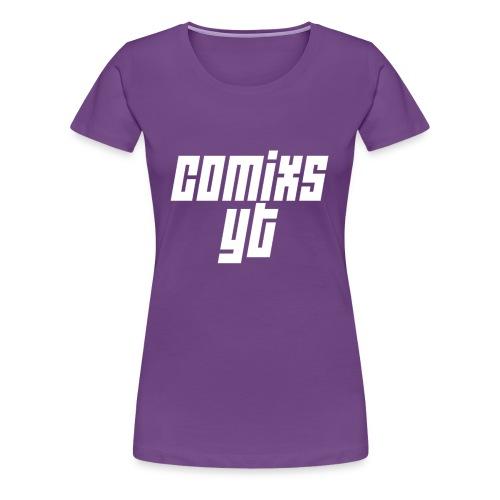 Women's White Text - Women's Premium T-Shirt
