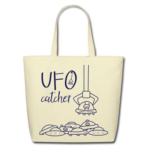 UFO Catcher Eco Tote Bag 100% cotton in Navy/Creme - Eco-Friendly Cotton Tote
