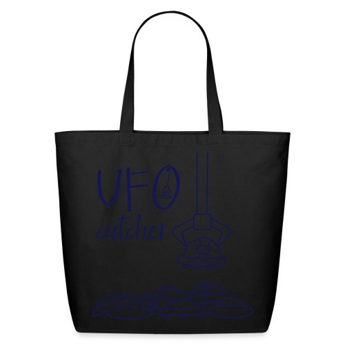 UFO Catcher Eco Tote Bag 100% cotton in Navy/Creme - Eco-Friendly Cotton Tote