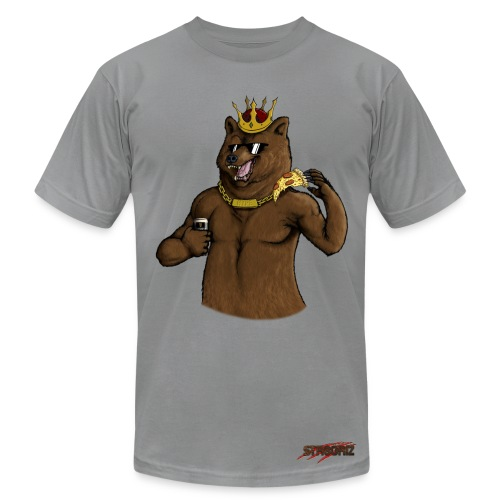 Male Party Bear With Chain - Men's Fine Jersey T-Shirt
