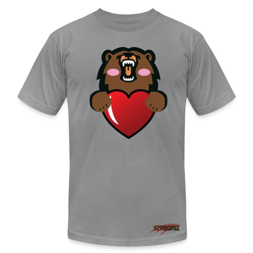 Male Griz Love With Rose Cheeks - Men's Fine Jersey T-Shirt