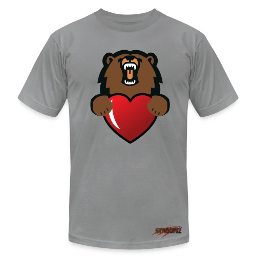 Male Griz Love No Rose Cheeks - Men's Fine Jersey T-Shirt