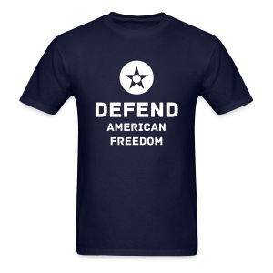 USA: Defend American Freedom Tee with Logo - Men's T-Shirt