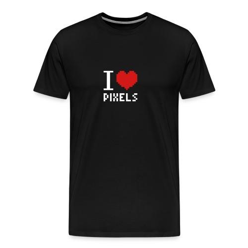 I Love Pixels - Mens Tee Black - Men's Premium T-Shirt