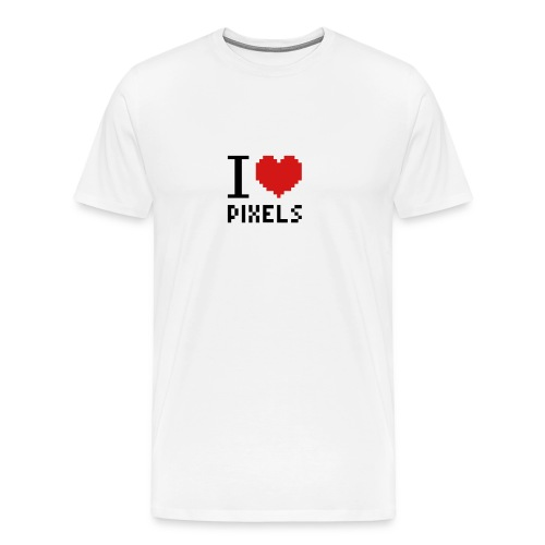 I Love Pixels - Mens Tee White - Men's Premium T-Shirt