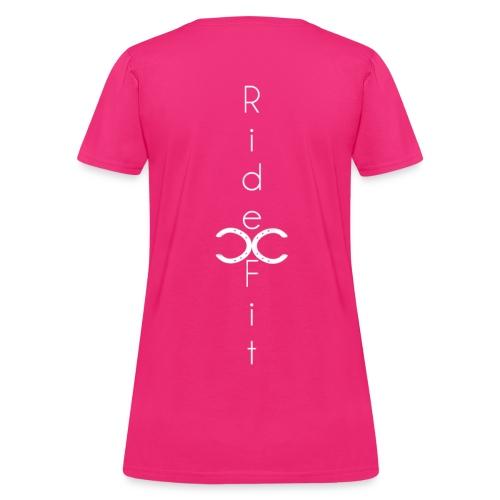 Ride Fit Tee Pink - Women's T-Shirt