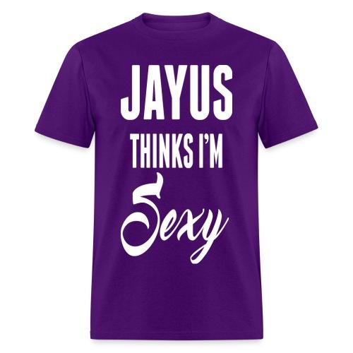 Jayus Thinks I'm Sexy (Mens Purple) - Men's T-Shirt