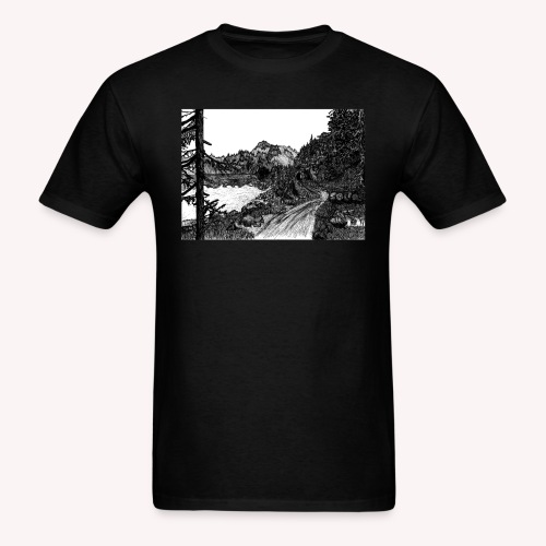 The Mountain's Sleep - Men's T-Shirt