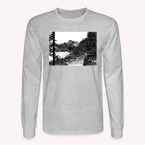 The Mountain's Sleep - Men's Long Sleeve T-Shirt