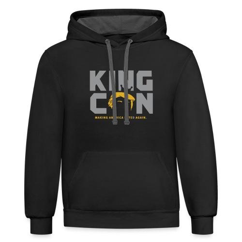 King Con Hoodie Sweatshirt - Contrast Hoodie
