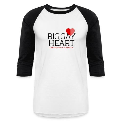"Big Gay Heart"" Two-toned Shirt - Baseball T-Shirt"