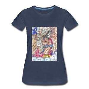 Women's Tengu Warrior Long Sleeve shirt - Women's Premium T-Shirt