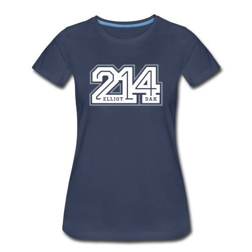 214 - Dallas (Navy) WOMEN - Women's Premium T-Shirt