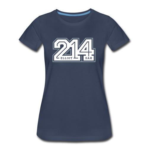 214 - Dallas (Navy) WOMEN - Women's Premium T-Shirt