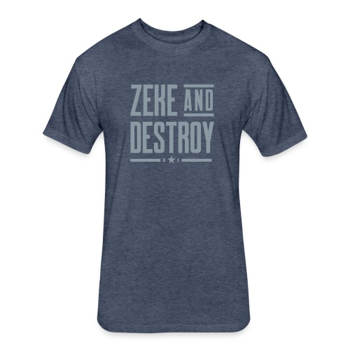 Zeke & Destroy (Navy) MENS - Fitted Cotton/Poly T-Shirt by Next Level