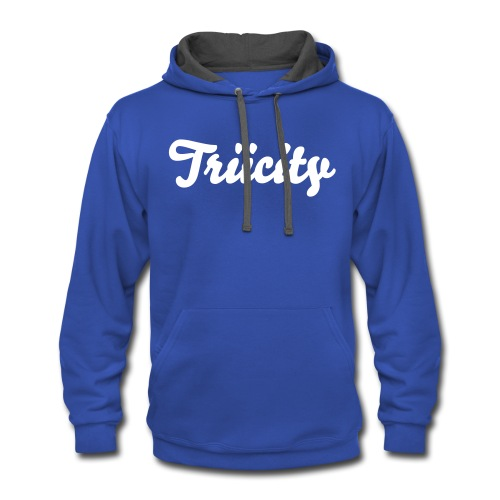 Triicity Hoodie  - Triicity White Text - Contrast Hoodie