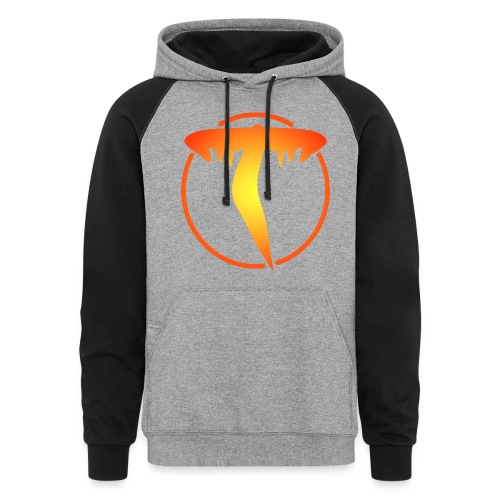 Triicity Hoodie  - Yellow to Orange Logo - Colorblock Hoodie