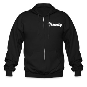 Triicity Jacket - White Triicity Text - Men's Zip Hoodie