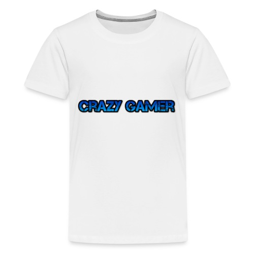 Crazy Gamer Shirt White Any Size - Kids' Premium T-Shirt