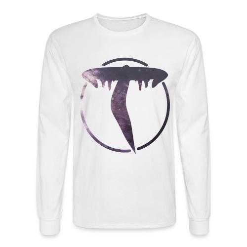 Triicity Longsleeve - Purple Galaxy Triicity Logo - Men's Long Sleeve T-Shirt