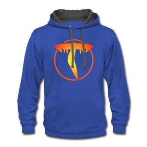 Triicity Hoodie  - Yellow to Orange Logo - Contrast Hoodie