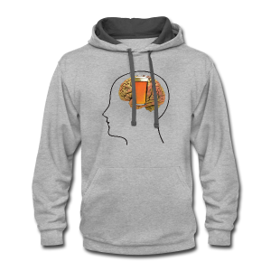 Great Minds Drink Alike Contrast Hoodie - Contrast Hoodie