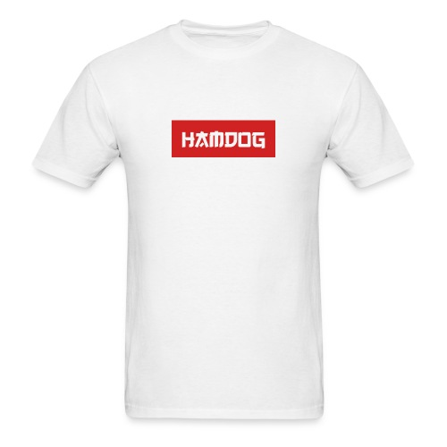 HamDog Box Logo T-Shirt M - Men's T-Shirt