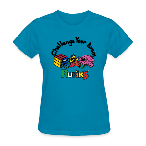 Rubik's Cube Challenge Your Brain - Women's T-Shirt