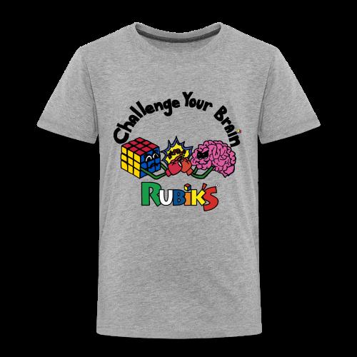 Rubik's Cube Challenge Your Brain - Toddler Premium T-Shirt