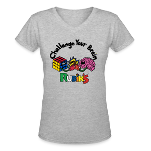 Rubik's Cube Challenge Your Brain - Women's V-Neck T-Shirt