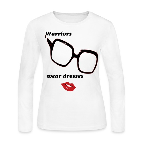 WARRIORS WEAR DRESSES - Women's Long Sleeve Jersey T-Shirt