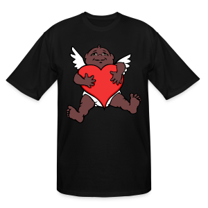 African Cupid Valentines T-Shirts - Plus Sizes - Men's Tall T-Shirt