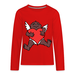 African Cupid Valentines Shirts - Kid's Longsleeve - Kids' Premium Long Sleeve T-Shirt